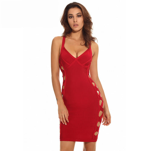 'Hayden' Red Bandage Dress