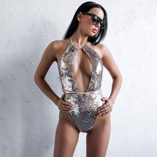 Gold Sequins Bodysuit