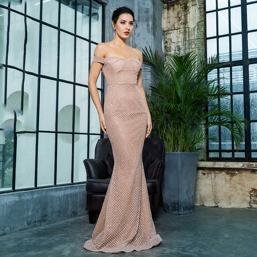 'Lilah' Gold Maxi Dress