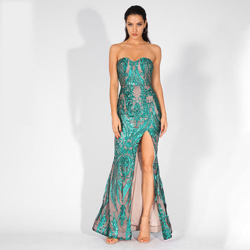 'Yasin' Mint Maxi Dress