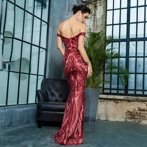 'Cadia' Red Maxi Dress