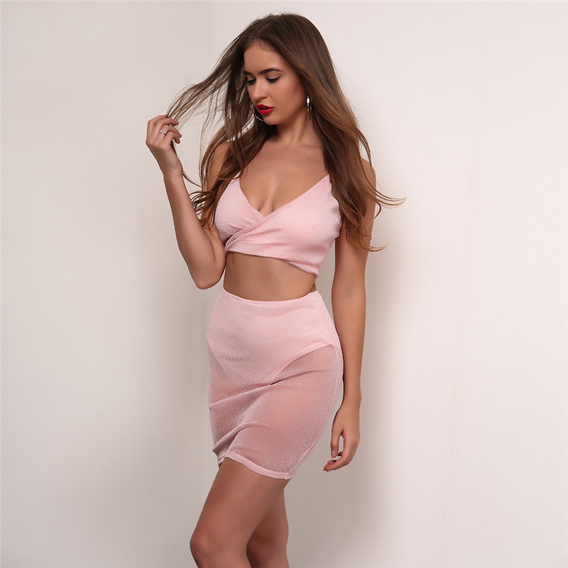 Baby Pink Sheer 2 Piece Set