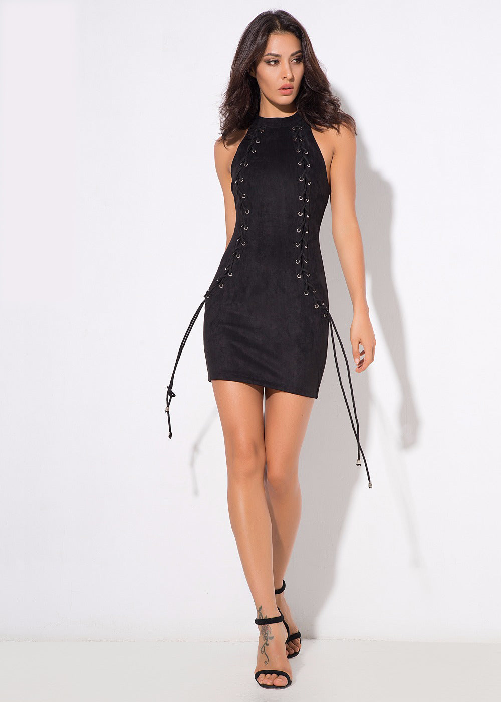'Abba' Black Dress