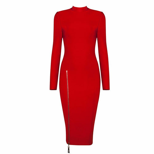 'Rita' Red Bandage Dress