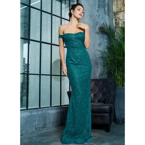 'Lilah' Green Maxi Dress