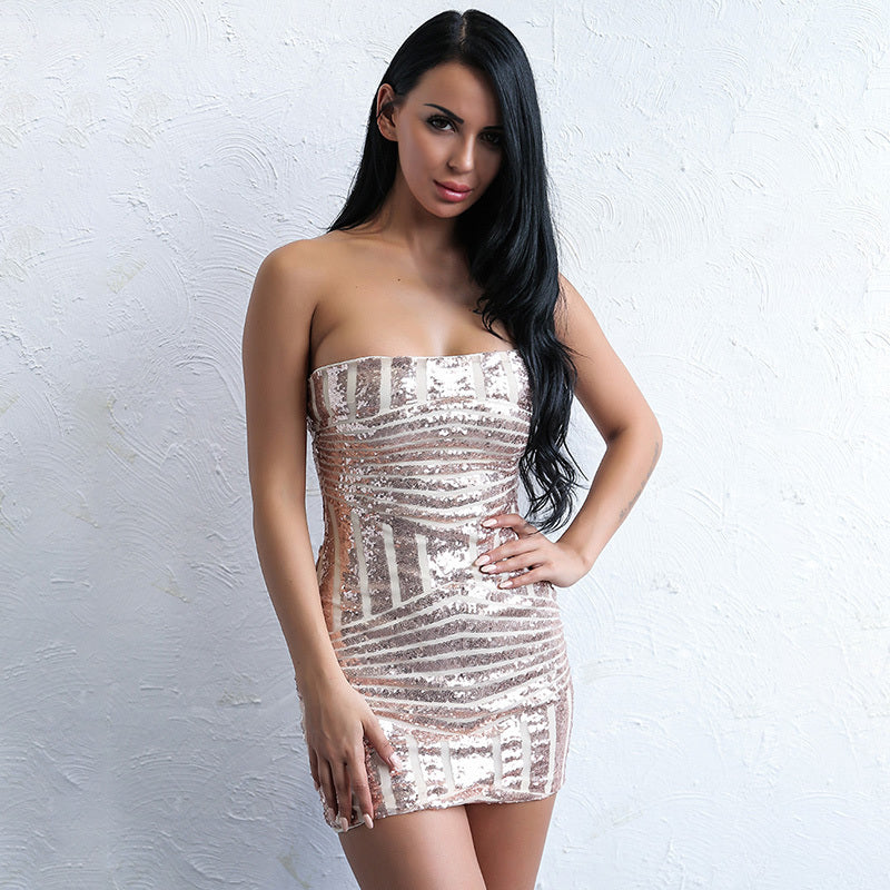 'Bobby' Gold Dress