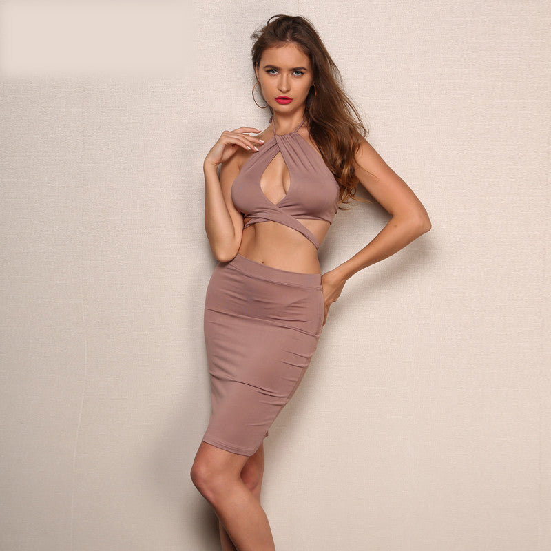 'Arlene' Taupe 2 Piece Set