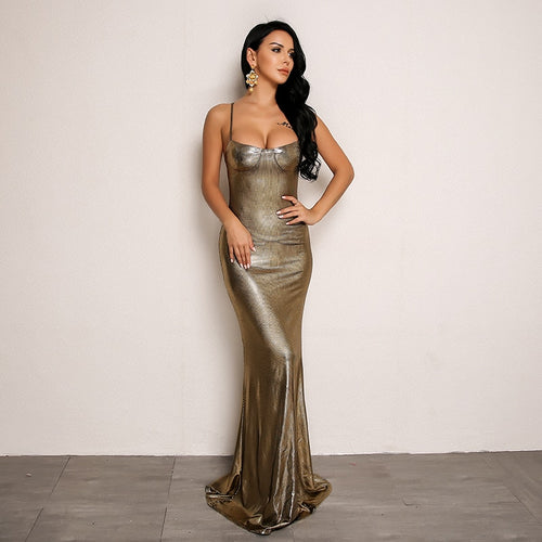Gold Body con Maxi Dress