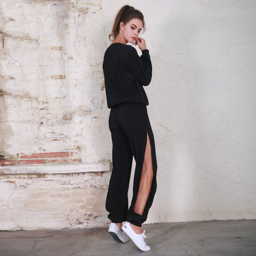 Black Cut Out Tracksuit