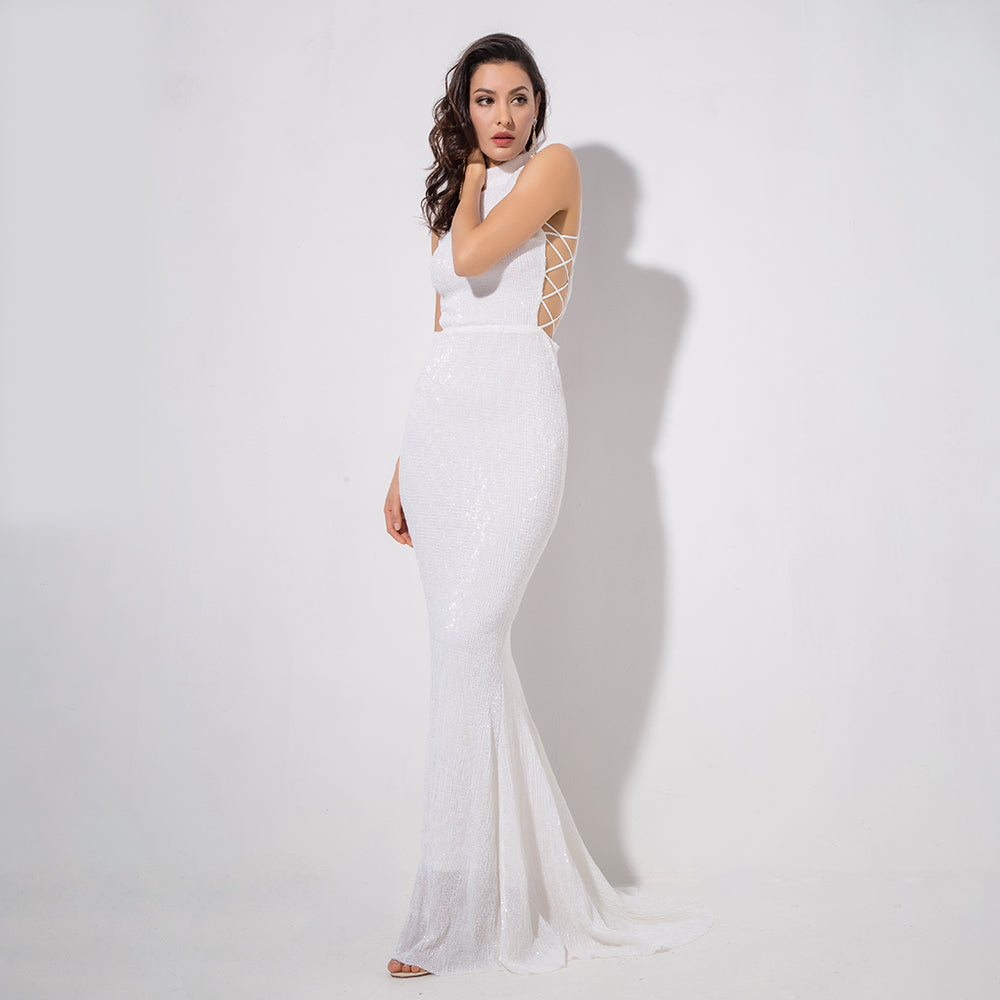 'Amia' White Maxi Dress