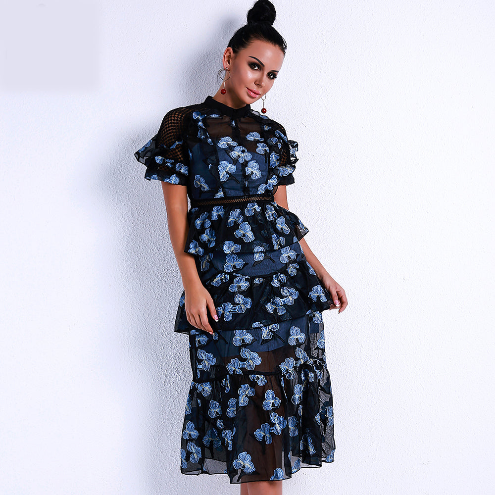 Blue Floral Dress Duo