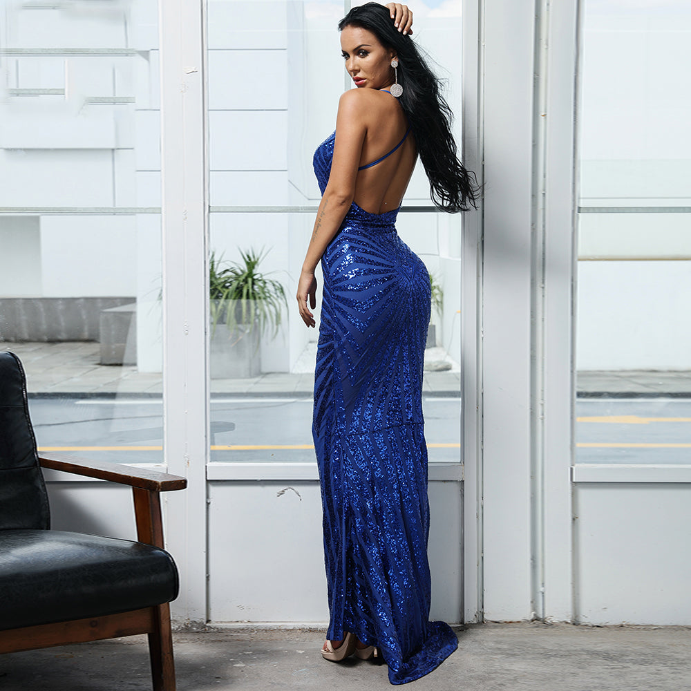 'Bendetta' Blue Maxi Dress