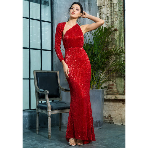 'Lura' Red Maxi Dress