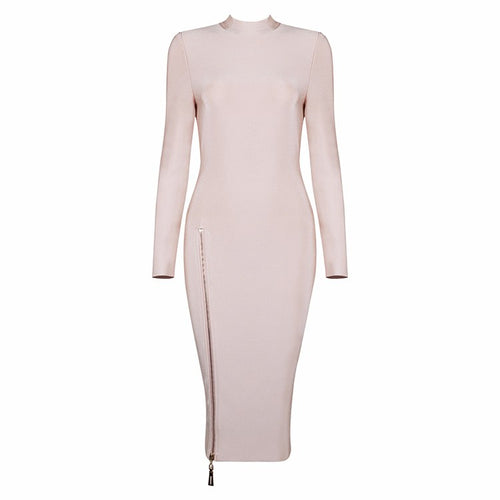 'Rita' Nude Bandage Dress