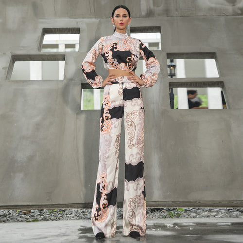 Abstract Print 2 Piece Set