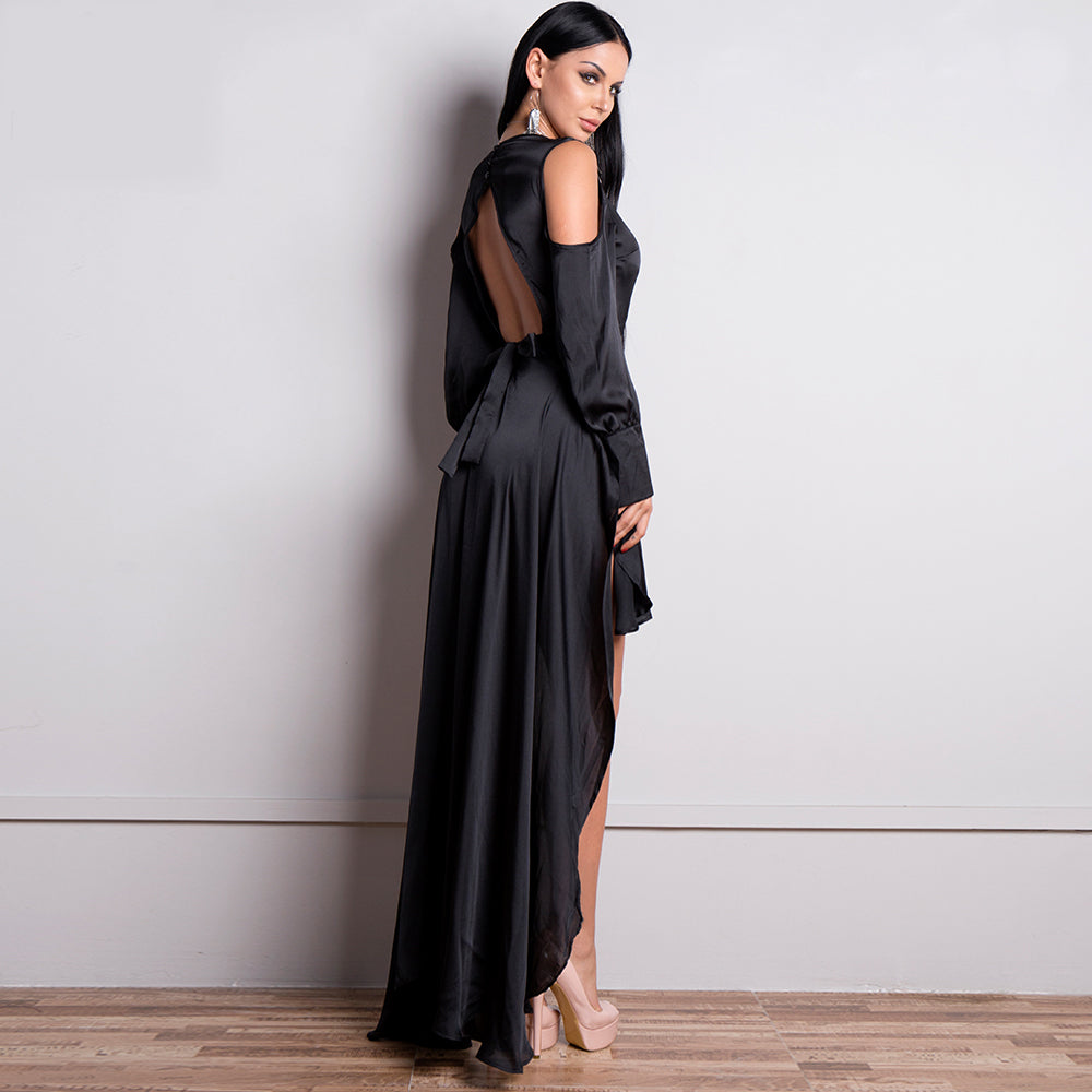 'Annalee' Black Maxi Dress