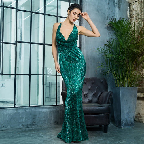 'Suzanna' Green Maxi Dress