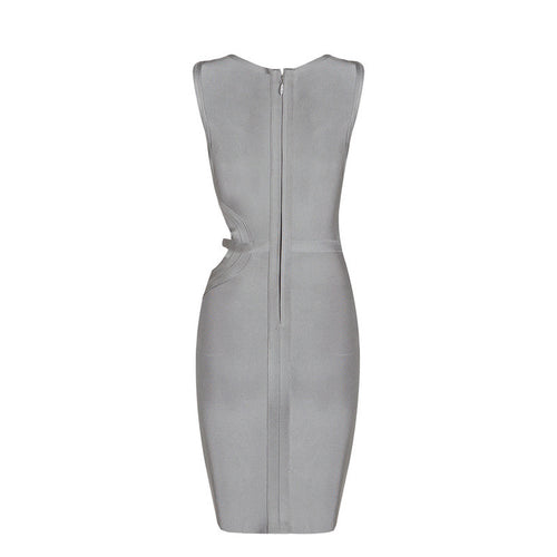 'Erinna' Grey Bandage Dress