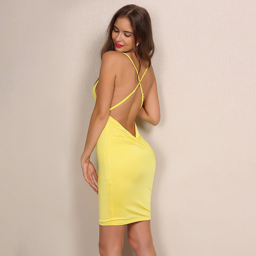 'Carolyn' Yellow Dress