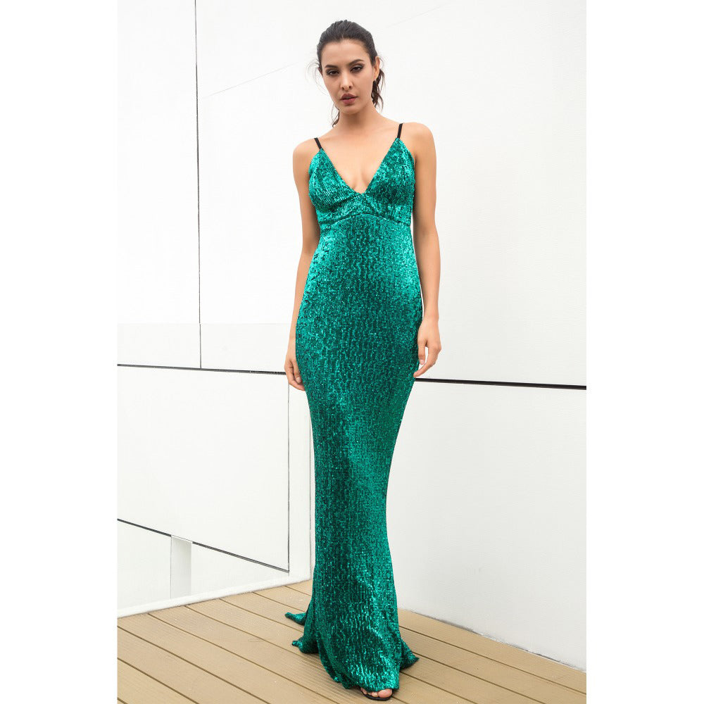 'Bailey' Green Maxi Dress