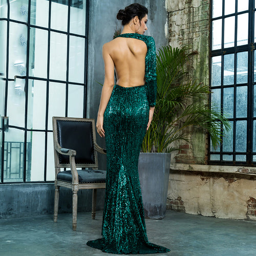 'Lura' Evergreen Maxi Dress