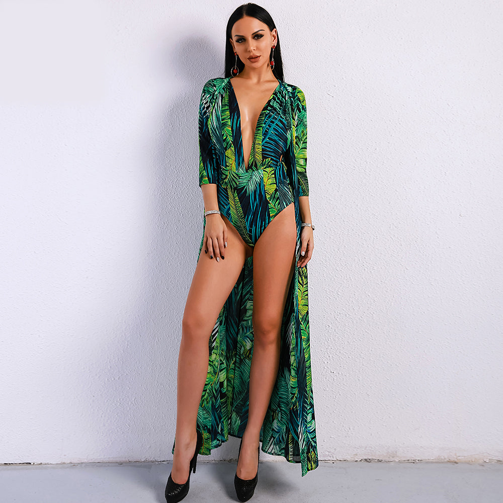 Bohemian Green Playsuit