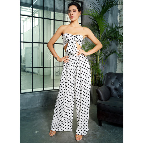 Black and White Polka Dot 2 Piece Set