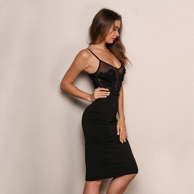 'Alenka' Black Dress