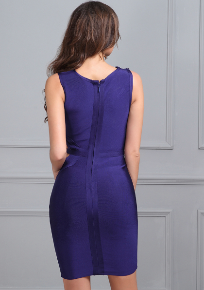 'Erinna' Blue Bandage Dress