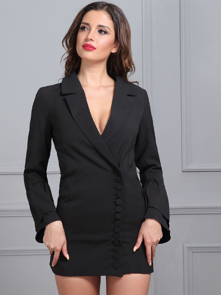 Black Suit Jacket Mini Dress