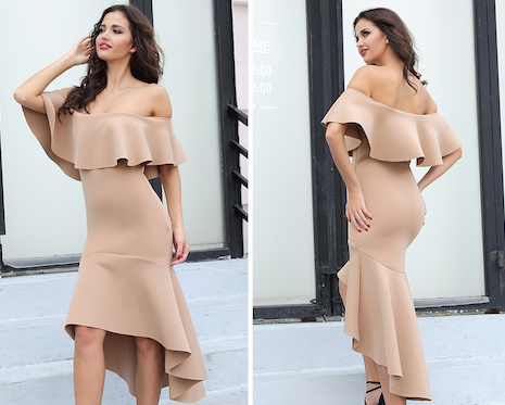 'Audrina' Nude Dress