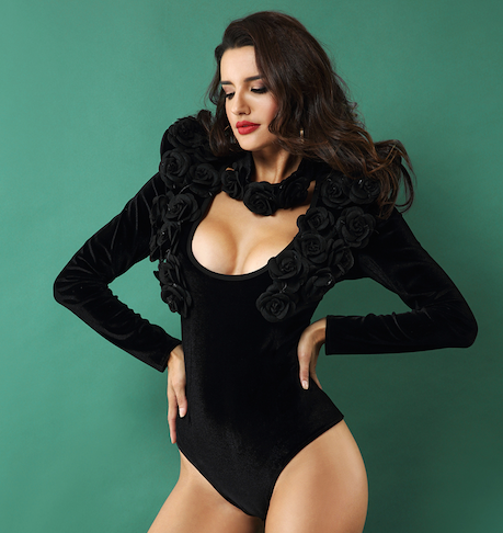 Black Rose Bandage Bodysuit