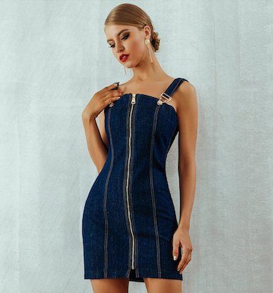 Denim Bandage Dress