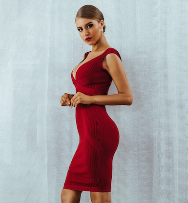'Hilanas' Bandage Dress