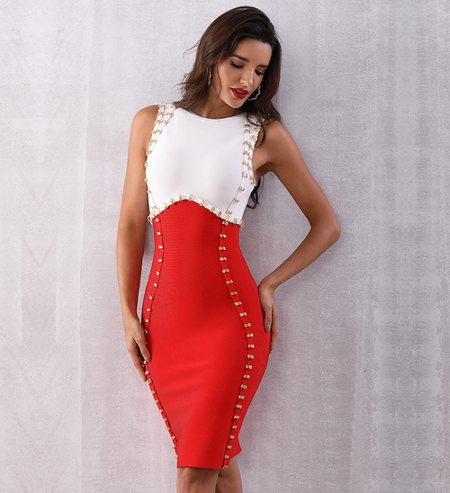 'Andrea' Bandage Dress