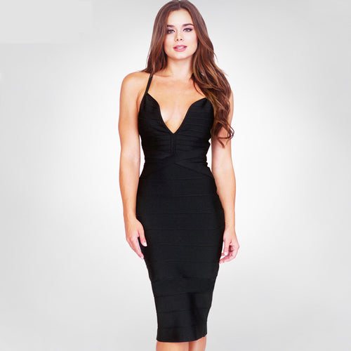 'Nova' Black Bandage Dress
