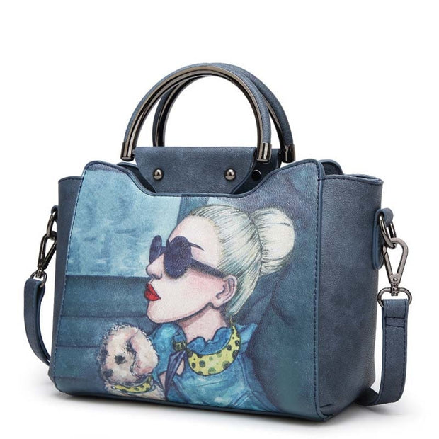 Cartoon Printed Handbags Women's bags for Ladies Autumn New High quality