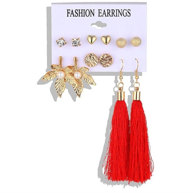 Fashion Earring Bohemian Tassel Set