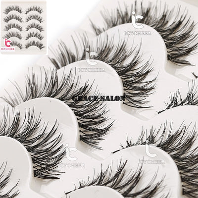 Natural Beauty Lashes Extension Soft 5 Pairs