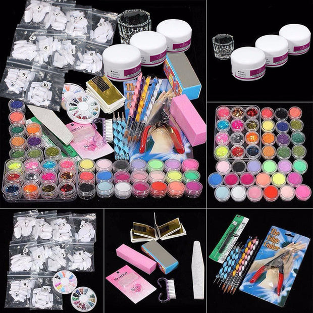 37pc/set Professional Polygel Nail Kit With Drill