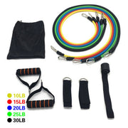 17Pcs/Set Latex Resistance Bands