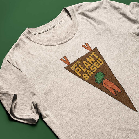 100% Plant Based Pennant<br/> Unisex Tri-Blend T-Shirt
