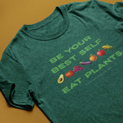 Be Your Best Self, Eat Plants<br> Unisex Tri-Blend T-Shirt