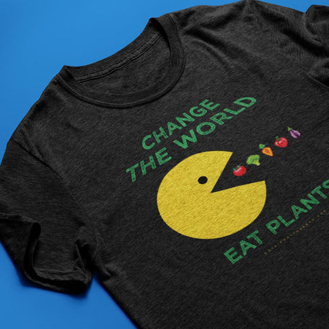 Change The World, Eat Plants<br/> Unisex Tri-Blend T-Shirt