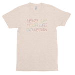Level Up, Go Vegan<br>Unisex Tri-Blend T-Shirt