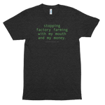 Stopping Factory Farming<br> Unisex Tri-Blend Tee