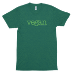 Vegan (Typewriter Green)<br/> Unisex Tri-Blend Tee