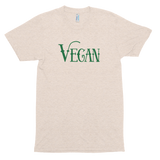 Vegan (Charming Green)<br/> Unisex Tri-Blend Tee