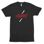 Vegan (Rock Accents)<br/> Unisex Tri-Blend Tee