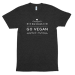 Eat Clean, Go Vegan<br/> Unisex Tri-Blend T-Shirt